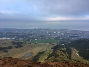Views from the top of Arthur's seat